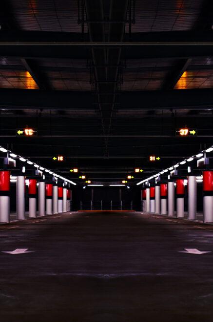 Underground parking garage serviced by BGD Contracting